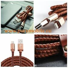 Covered USB Charger Sync Data Leather Cable 8pin for iPhone 6S 6 Plus 5S   TYP2