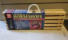 WILSON HORSESHOES PROFESSIONAL SET WOOD BOX, SEALED,  UNOPENED.