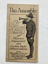 Vintage Abercrombie & Fitch Catalog 1918 Military Equipment and Uniforms Ww1