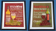 Red Wine - White Wine - Posters - Home Decor - Signed