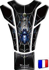 Protège Réservoir Keiti® 3D Sticker Autocollant Inaltérable Araignée Bleue