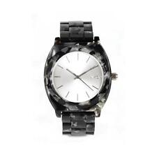 New Nixon Time Teller Acetate Watch Gray Granite Waterproof 100M Free Shipping