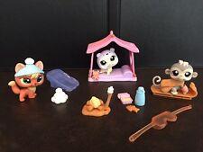 LPS Littlest Pet Shop Sportiest Snowy Day Set # 1028 1029 1030 Fox Seal Monkey