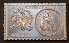 1866 United States Seated Liberty Half Dollar Numistamp Medal 1975 Mort Reed