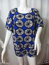 Marimekko Target  Appelsiini Blue Print Top & Shorts Set  Womens Size Large