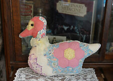 Antique Grandmother's Flower Garden Quilt Big Beautiful Duck pillow