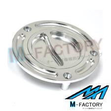 Billet Silver Keyless Fuel Gas Cap Fit Honda CBR 1000 250 600 F4I 900 929 954 RR