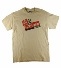 Men's Citroen Sport Retro Racing Print Sand Tee  Big Sizes Free UK Delivery