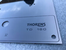 Thorens TD 160 165 166 145 146 147 RETRO top face plate Black Mirror with LIFT