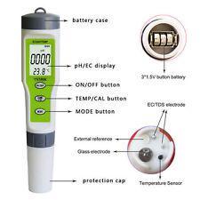 3 en 1 LCD Digital Ec / Ph / Temp Agua Calidad Probador Medidor Pen Stick Ppm