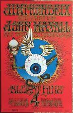 ABSOLUTELY GORGEOUS 1968 JIMI HENDRIX 'FLYING EYEBALL' FILLMORE CONCERT POSTER