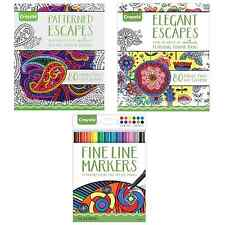 Crayola Adult Coloring Books Fine Tip Pens Patterns Pages Detailed Classic Color