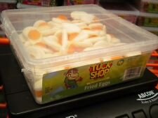 TUCK SHOP 120 FRIED EGGS 900g TUB UK SWEETS PARTY HALLOWEEN BIRTHDAY ETC