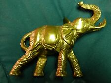 "Bronze Attacking Elefant 20 oz 4.5""x1&3/4""x5"" Vintage/Antique Sculpture Brass"
