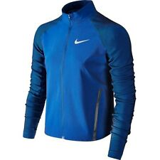 Nike Womens Twill Running Jacket Stadium Obsidian Blue Size L 822552 451