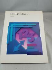 IBM LOTUS 123 RELEASE 3 / Manual Only
