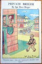 WWII Private Breger 1943 Linen Postcard: #314, 'Shoulder Bars!'