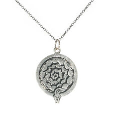 Keyne Stone Ammonite Wisdom Sterling Silver 925 Celtic Birth Charm Necklace Oct