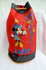 Vintage Minnie Mouse Cowgirl Lasso duffel cinch drawstring bag (VH29)