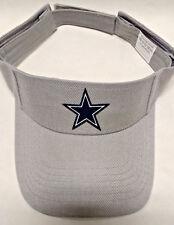 Read Listing! Dallas Cowboys Handcrafted FLAT LOGO on Silver visor cap hat!