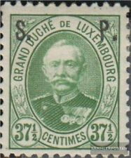 Luxembourg D52 with hinge 1891 official stamp