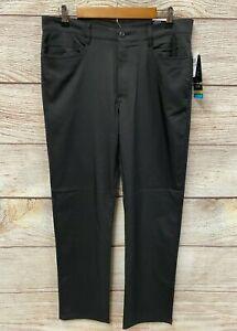 PGA Tour Golf Pants Mens 32X32 Black Stretch Motionflux 360 Classic Fit New