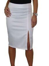 Faldas de mujer blancos de poliéster, Talla 36