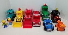 LEGO DUPLO Bob The Builder (8) Vehicle Lot - Bob, Scoop, Muck, Packer - Look+++