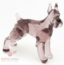 Art Blown Glass Figurine of the Giant Schnauzer dog
