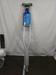 Carex Push Button Aluminum Crutch, Tall. New