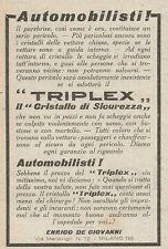 Z2058 TRIPLEX il cristallo di sicurezza - Pubblicità d'epoca - Advertising