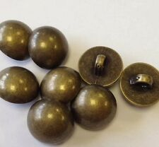 Metal Effect Tarnished Brass Buttons 15MM Pack Of 6