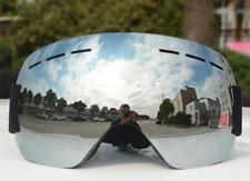 Mens Snow Ski Goggles Snowboard Large Double Lens Anti-Fog UV Protection Trendy