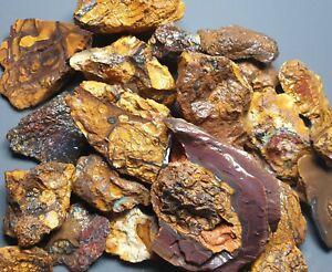 Boulder Opal Rough Parcel Yowah Matrix Solid Natural Lapidary Specimen 581 Grams