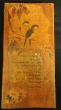 Vintage Spiritual Wood Plaque Look at the Birds of the air: Religious - Jesus