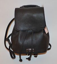 VICTORIA'S SECRET FAUX LEATHER SNAKE PYTHON BLACK MINI BACKPACK PURSE BEACH BAG