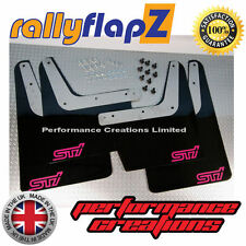 rallyflapZ SUBARU IMPREZA Classic (93-01) Mudflaps Black STi (sml) Pink 4mm PVC