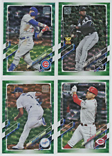 2021 Topps Series 1 GREEN FOIL PARALLEL /499 - PICK FROM LOT