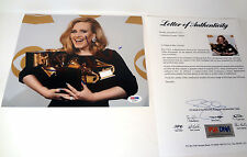 ADELE ADKINS HELLO 25 21 GRAMMY WIN SIGNED AUTOGRAPH 8x10 PHOTO PSA/DNA COA #1