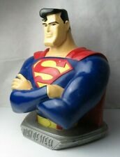 """Rare Superman - Man of Steel Large and Heavy Colorful Bust DC Comics 1997 18"""""""