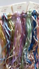 30 metres Assorted Colours 4mm Pure Silk Ribbon Embroidery Craft PLEASE READ!