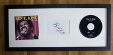 BEN E KING-A Hand Signed Card,CD Presentation & Mounted With COA,To Frame