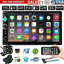 2DIN 7in Car Stereo Radio MP5 FM Player AUX Android/IOS Mirror Link Camera USA