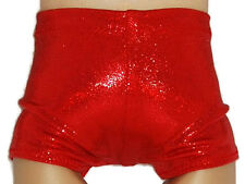 """SHINY RED BOY SHORTS - Dance/Cheer - Doll Clothes Fits 18"""" American Girl Dolls"""