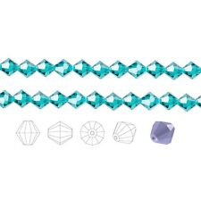 48 Preciosa Czech Crystal Faceted Bicone Beads 4mm