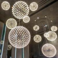 Kitchen Pendant Light Bar Lamp Silver Pendant Lighting Modern LED Ceiling Lights