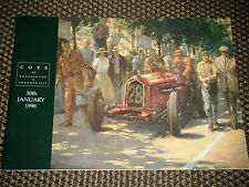 COYS AUCTION CATALOGUE 31st JANUARY CHELSEA LONDON AC ACE BENTLEY R TYPE MG TD