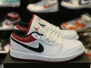 Air Jordan 1 Low 'White Univeristy Red' Size 7.5 to 12
