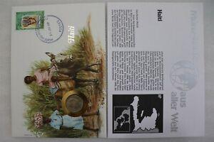 HAITI 10 CENTS 1975 COIN COVER B28 CAN24