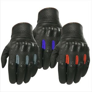 XPRO Motorcycle Gloves 100% Leather Motorbike sport Touring Red Blue Black Grey